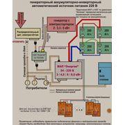Дизель-генераторный аккумуляторно-инверторный автоматический источник питания фото