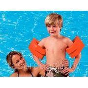 Надувные нарукавники для плавания Intex 59642 оранжевые 25 х 17 6-12 лет фото