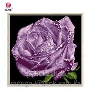 Картина-мозаика стразами Фиолетовая роза 32х31 см фото