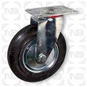 Ролики промышленные поворотные с черной резиной SC фото
