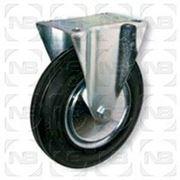 Ролики промышленные неповоротные с черной резиной FC фото