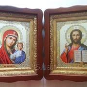 Пара икон. Венчальные иконы. Киот. Украина. фото