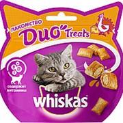 Whiskas 40г Duo Treast Лакомство для взрослых кошек Индейка и сыр фото