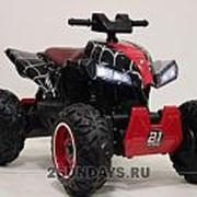 Детский квадроцикл на аккумуляторе T777TT Spyder черный фото