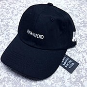 Кепка Paranoid Anti social social club x bape чёрная фото