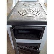 Котел твердотопливный с варочной поверхностью для приготовления пищи — КОТВ-18-с-в фото