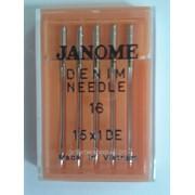 Иглы для бытовых машинJanome для джинс 1уп - 5 игл НА х 1 фото
