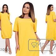 Платье женское из костюмки с карманами (4 цвета) - Желтый КНН/-01 фото
