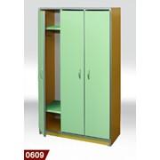 Шкаф для детского сада 3-местная 0609 фото