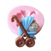 """Мягкая силиконовая форма""""Детская коляска с ребенком"""" фото"""