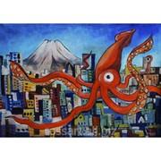 Картина Маслом Токио фото