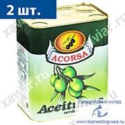 """Оливки зеленые с косточкой """"Acorsa"""" фото"""