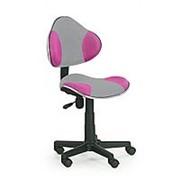 Кресло компьютерное Halmar FLASH 2 (серо-розовый) фото