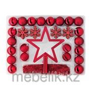 Набор украшений 56 шт., красный ВИНТЕР фото