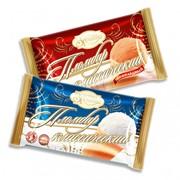 """Мороженое пломбир """"Золотая традиция"""" ванильный и шоколадный в вафельном стаканчике фото"""