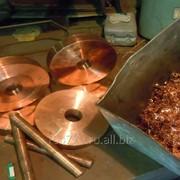 Стружка латунная, медная, бронзовая переплав в заготовки фото