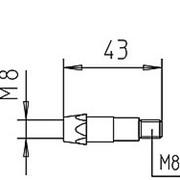 142.0021 Вставка для наконечника М8/М8/43мм. (1 уп. - 10 шт.) Abicor Binzel фото