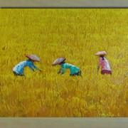 Картина Уборка риса, арт. 12479а фото