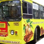 Реклама на/в общественном транспорте фото