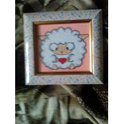 Картина крестиком овечка фото