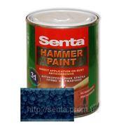 Молотковая краска Сента Хаммер (Senta Hammer) синяя 0,75 л фото