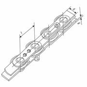 Цепи тяговые роликовые пластинчатые неразборные со сплошными и полыми валиками для использования в машинах непрерывного пассажирского транспорта (эскалаторах и пассажирских конвейерах) в качестве тягового органа фото