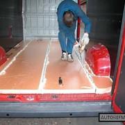 Утепление пола грузового автомобиля Isuzu (XPS) фото