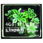 Флеш карта Compact Flash (CF) 4Gb Kingston (CF/4GB-S2)
