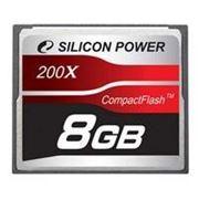Флеш карта Compact Flash (CF) 8Gb Silicon-Power 200x (SP008GBCFC200V10)