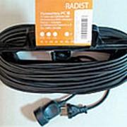 Удлинитель 009406 Radist Р16-001 (рамка) 1 гн. (ПВС 2*0,75) (40м) б/заземл. ( 10 А ) фото
