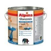 Универсальная цветная эмаль. Alpina GLANZMIX Tief-Schwarz (чорний) RAL 9005 0,75 l фото