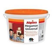 Шелковисто-матовая латексная краска для интерьеров и фасадов. ALPINA MEGAMAX UNIVERSAL B3 9,4 l фотография