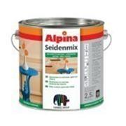 Универсальная цветная эмаль. Alpina SEIDENMIX Nu?braun (темно-коричневий) RAL 8011 0,75 l фото