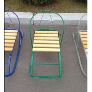 Санки детские металлические с деревянным сиденьем фото