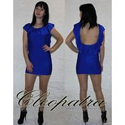 Платье открытая спина валан фото