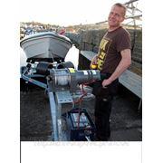 Лебедка электрическая 12В, тяговое усилие 3630 кг фото