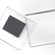 Акриловый магнит 65*65 мм прозрачный фото