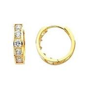 Серьги золотые с бриллиантами VS1/F 0.85 Ct фото