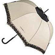 Зонт-трость Ferre, полуавтомат, бежевый/черный фото