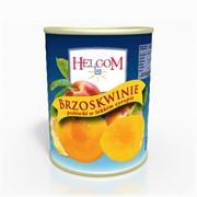 Персики и абрикосы половинки и резанные Helcom фото