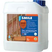 Лак для дерева и минеральных поверхностей «SMILE®WOOD PROTECT®» SL42 акриловый водно-дисперсионный фото