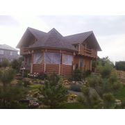Строим деревянные дома по индивидуальному проекту в Винница. Пропитка столбов деревянных фото