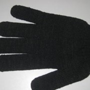 Перчатки полушерстяные (черные) фото
