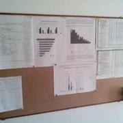 Доска офисная для напоминаний заметок pin-up 100х60см фото