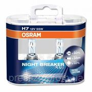 ЛАМПА OSRAM PX26d H7 12V 55W + 90% NIGHT BREAKER PLUS 64210NBPSET 2шт (к-кт) фото