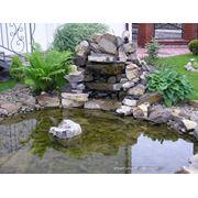 Декоративный водоем из камня фото