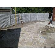 Устройство бордюров для дорожек из бетона Днепропетровск Украина цена фото купить фото