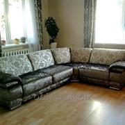 Перетяжка угловых диванов фото