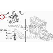 Опора двигателя правая 1.6 16V Doblo 51760171 фото