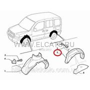 Подкрылок задний правый Doblo 2005-2011 51755109 (51766057) фото